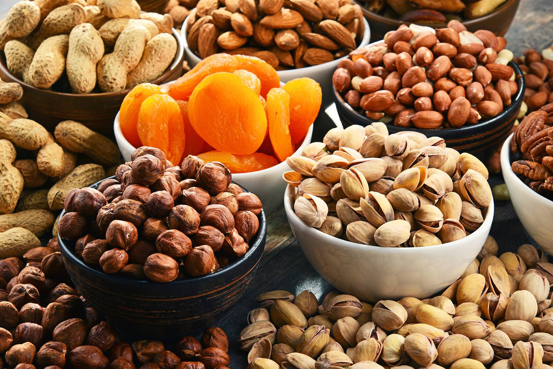 All kinds of nuts